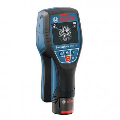 Bosch D-tect 120 Professional Детектор за напрежение за бетон метал и дърво D-tect 120 стомана 12.0 см; бетон 12.0 см кабели 6.0 см 0 601 081 301